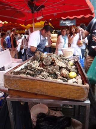 Rock oyster stall Borough Market