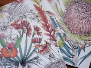 Blogger gift swap floral notebooks details