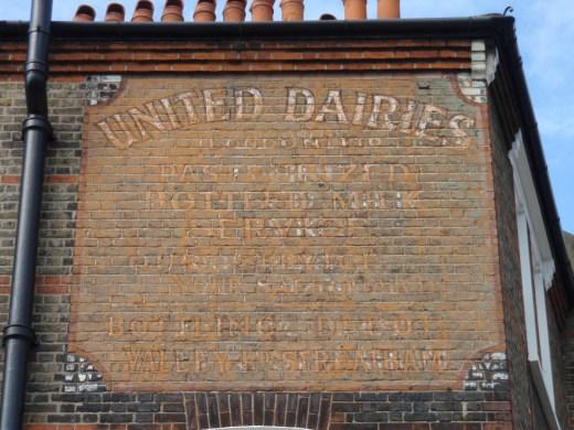 United dairies ghost sign Landor Road