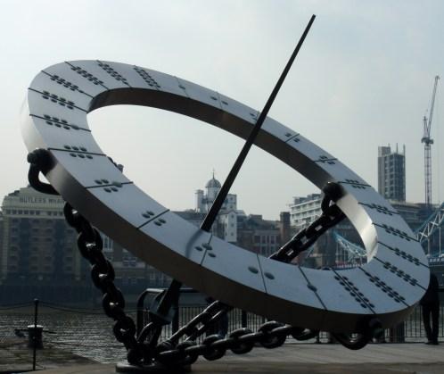 Sundial at St Katharine's Dock
