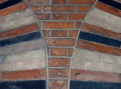 Victorian brickwork on the Kikaldy testing station SE1