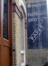 Thomas Bros Paper sign Bermondsey Street SE1