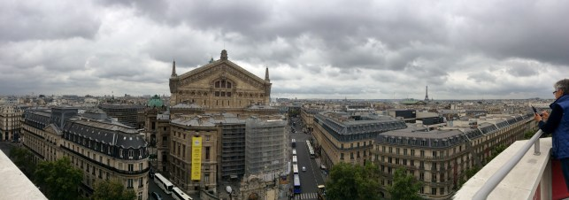 Galleries Lafayette rooftop view