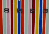 Striped SMEG fridge door Ideal Home Show 2016