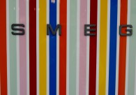 Striped SMEG fridge door Ideal Home Show 2016