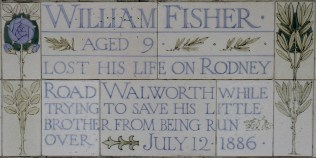 Postman's Park memorial William Fisher 1886