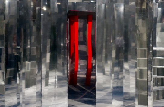 red reflection - two pillars