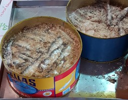 Chania market sardines