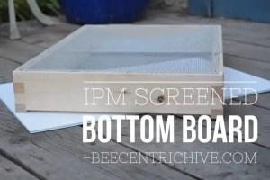 Screened IPM Bottom Board. Beecentric Hive. Edmonton, Alberta. Beekeeping Equipment.