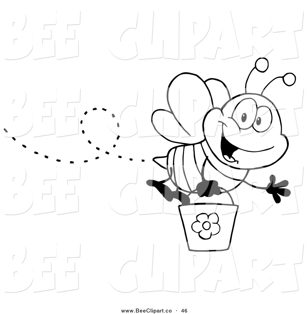 Bee Clipart Black And White Clipart Free Download