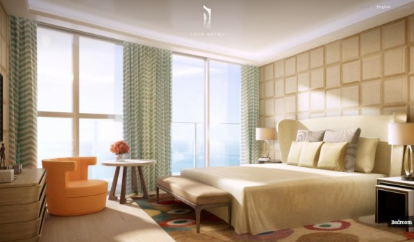 Monaco-Penthouse-bedroom-with-retro-influence-and-ocean-views1