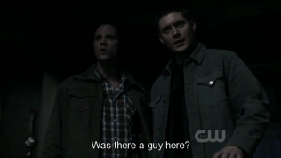"""Khi Dean và Sam tới thì mọi chuyện đã rồi. Dean hỏi Jesse, """"Có một người nào đến đây không?"""""""