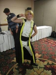Bạn Rin này dễ thương lắm, tớ chụp tấm này trong panel dancing time của Vocaloid