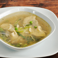 curry pork dumpling soup
