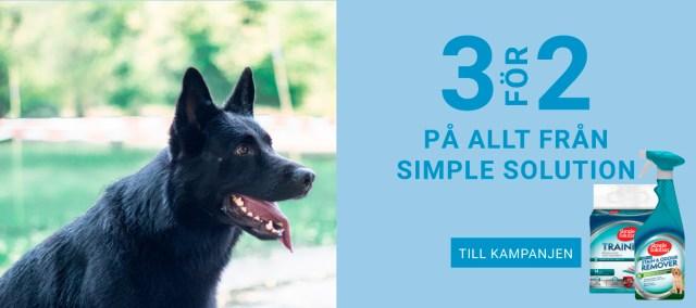 3 för 2 på allt från Simple Solution