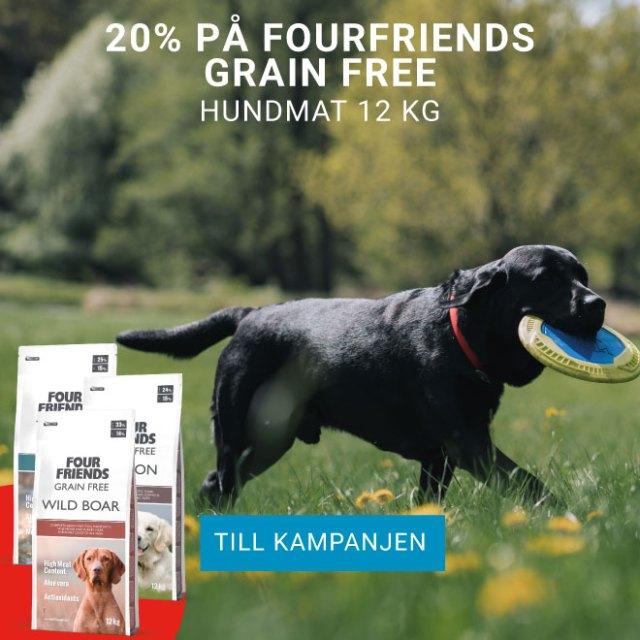 20% på FourFriends Grain Free Hundmat 12 kg