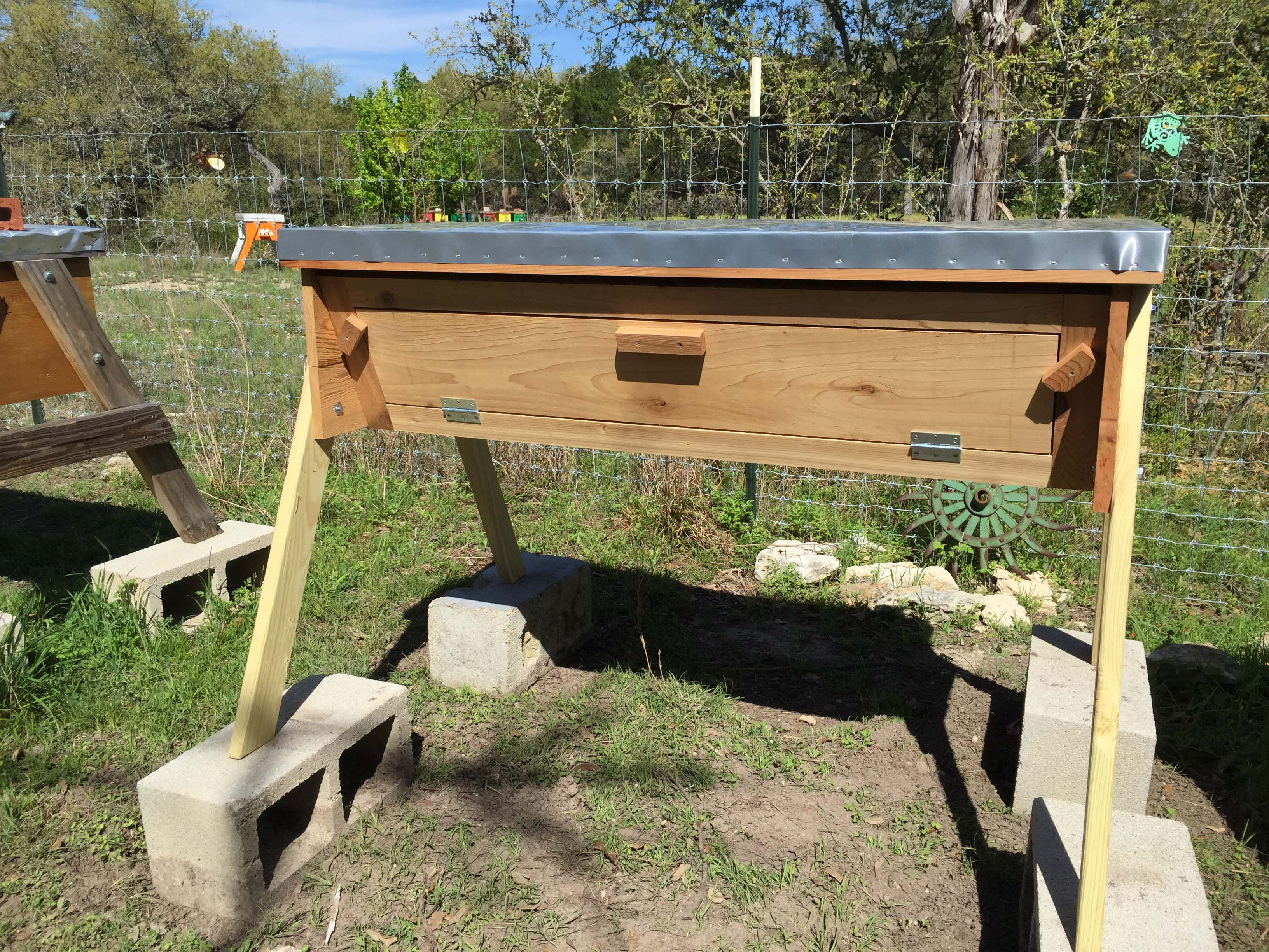 Cedar Top Bar Hives U2013 $400 U2013 With Full Length Observation Window  Complete  Hive
