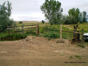 building livestock fences to manage resources
