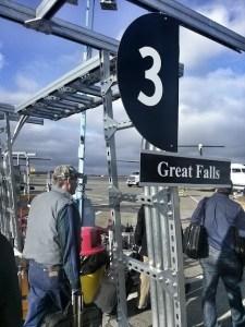 tarmac airplane gate sign
