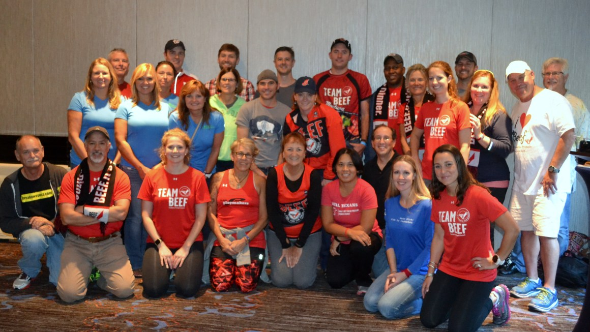 Team Beef at the 41st Marine Corps Marathon