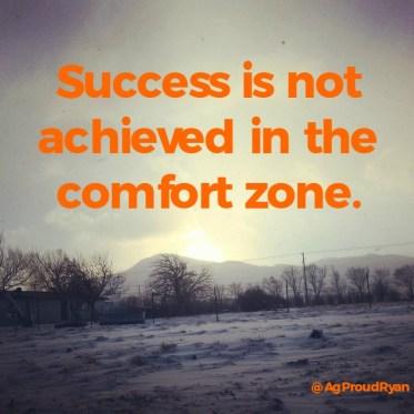 Success is not achieved in the comfort zone. ultramarathon