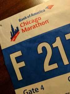 2017 Chicago Marathon Race Bib