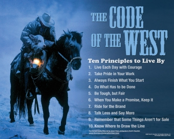 Cowboy Ethics – Not just a Code of the West