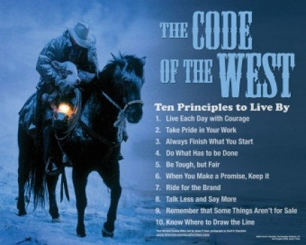 Cowboy Ethics Code of the West David Stoecklein Photography