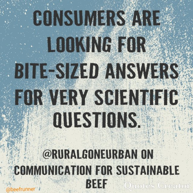 consumer science communication