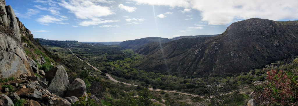 Mission Trails Regional Park in San Diego panorama