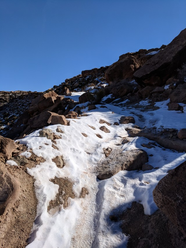arches ultra moab snow slope