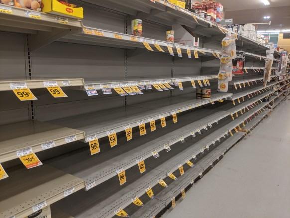 COVID empty food shelves advocacy