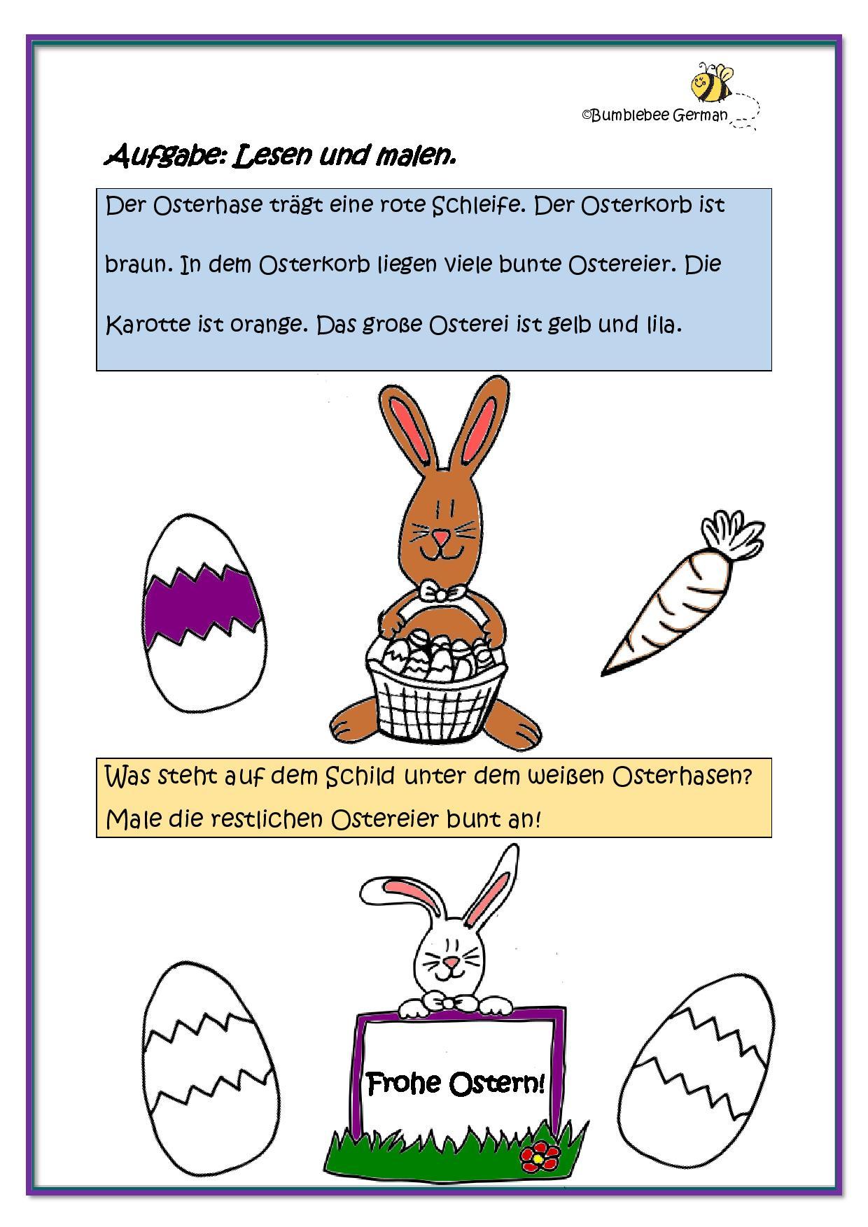 Spring Worksheet Easter Bunny