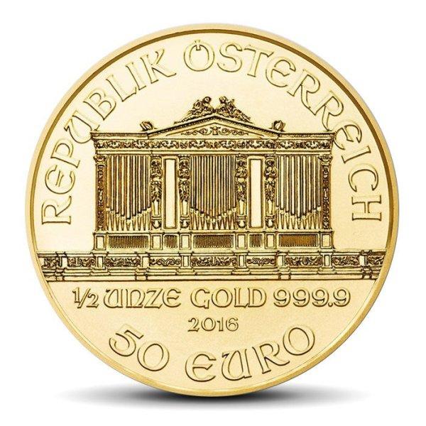 vienna philharmonics 50 Eur 1/2 OZ gold coin