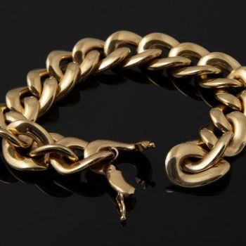 Luxurious gold chain bracelet Acca