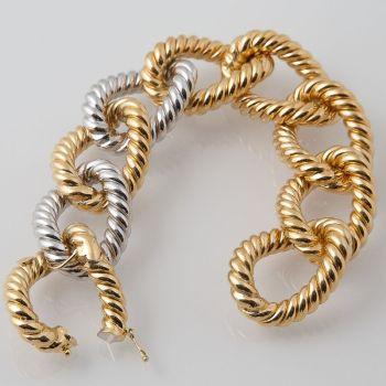 Unique gold twist bracelet Dolce Vita