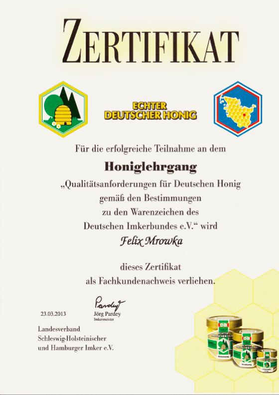 Zertifikat_Honiglehrgang_Felix_Mrowka