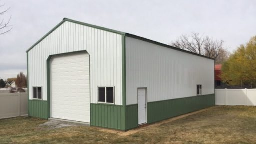 Pole Barn Workshop - Beehive Buildings - Jason's Workshop 30x50x16