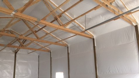Pole Barn Workshop - Beehive Buildings - 30'x50'x16'