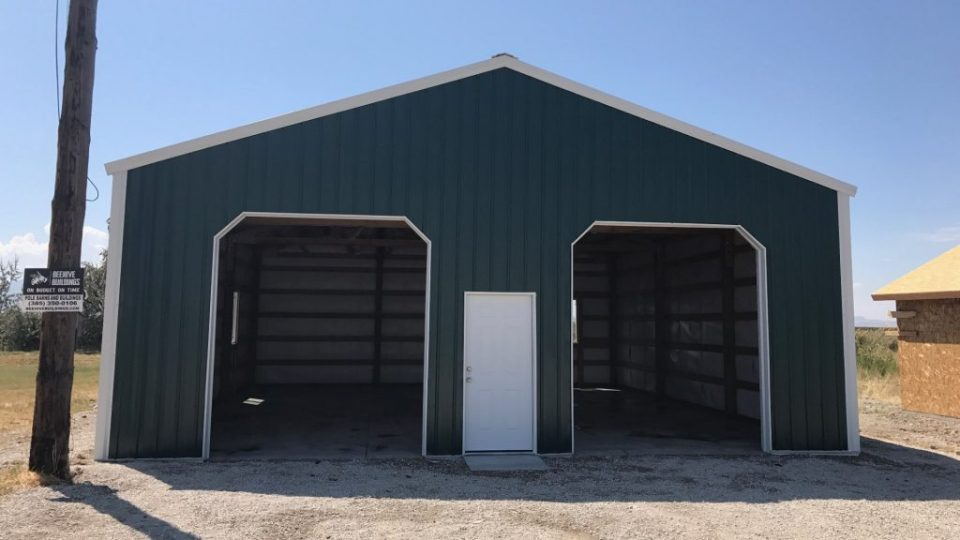 Pole Barn Garage - Beehive Buildings - 32x36x12