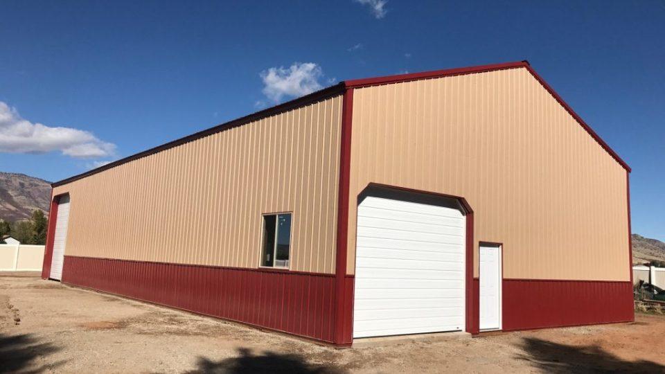 Pole Barn Workshop & Garage - Beehive Buildings - 40'x80'x16'