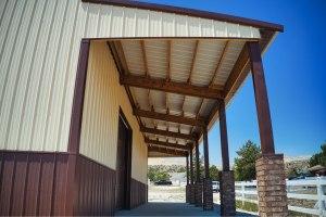 Lean-to, Gary's Pole Barn Garage - Beehive Buildings - 40x50x16