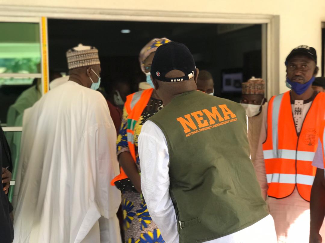 NEMA Officials Pay Courtesy Visit to Bauchi State Governor Sen. Bala A Muhammad.