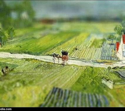 Tilt-Shift appliqué à des peintures de Van Gogh