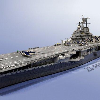 Le bateau le plus long jamais réalisé en Lego