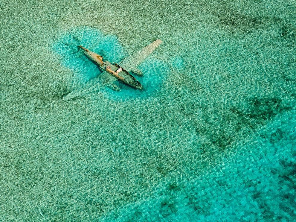 Avion échoué aux Bahamas