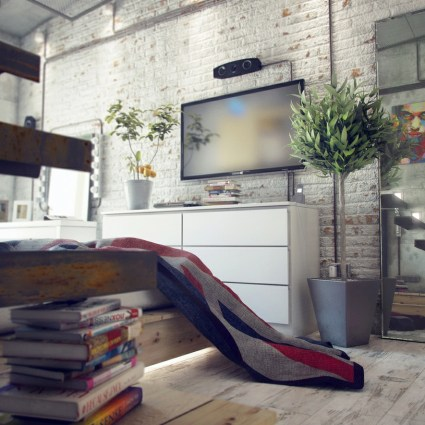 Loft au look industriel