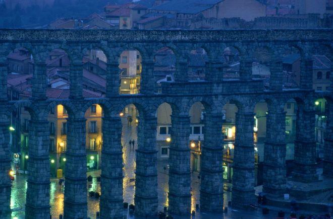 Roman Aqueduct, Spain by James L. Stanfield