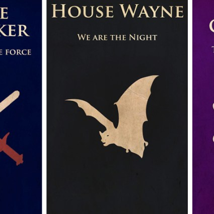 Miguel Lokia – Des bannières Game Of Thrones aux symboles héraldiques de héros de Comics ou Séries