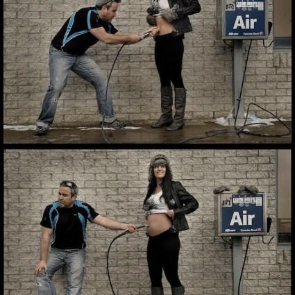 Une série de photographies hilarante pour montrer comment faire un bébé